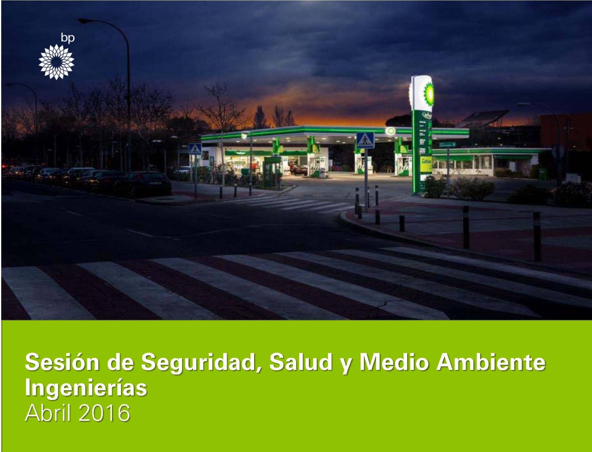 Sesión de Seguridad, Salud y Medio Ambiente para Ingenierías de BP Oíl España.